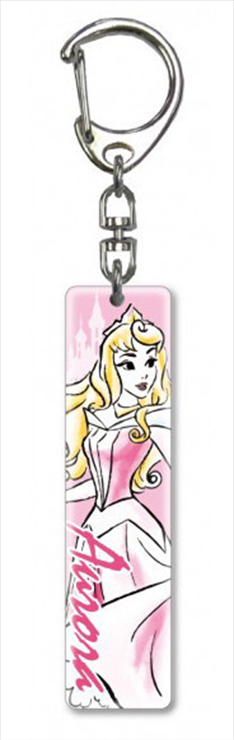 Keyring Lucite Crystal Clear Princess Sleeping Beauty Aurora | Accessories