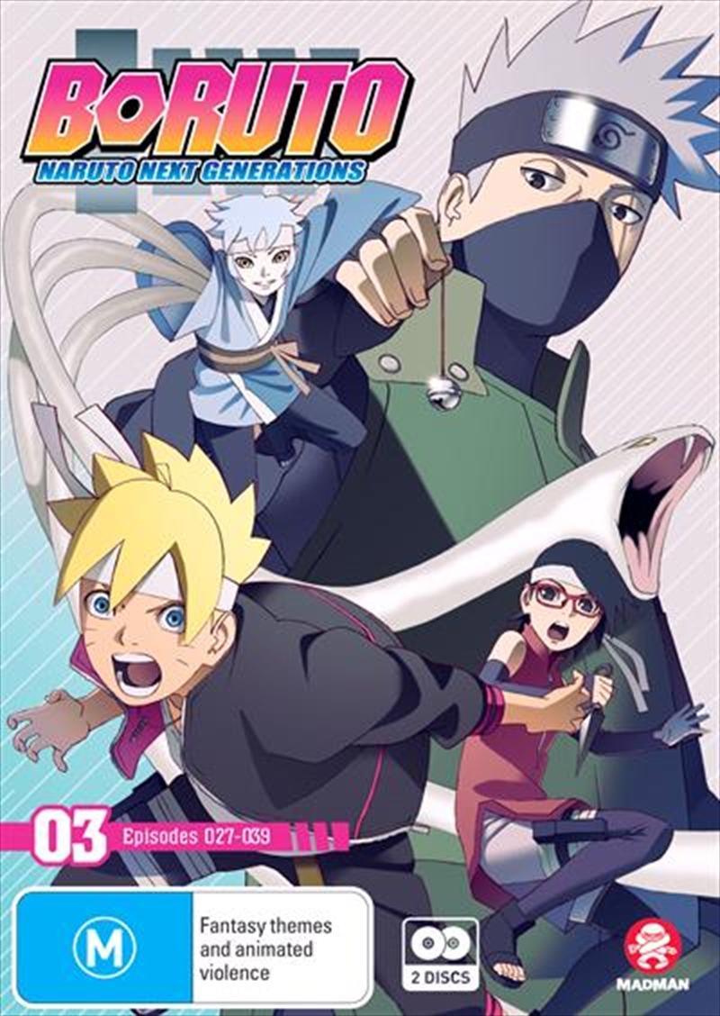 Boruto - Naruto Next Generations - Part 3 - Eps 27-39 | + Ova | DVD