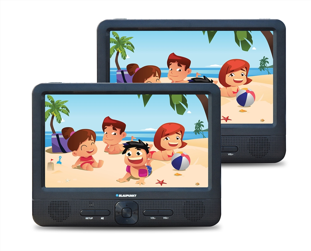 "Blaupunkt - 9"" Portable Dual Screen DVD Player 