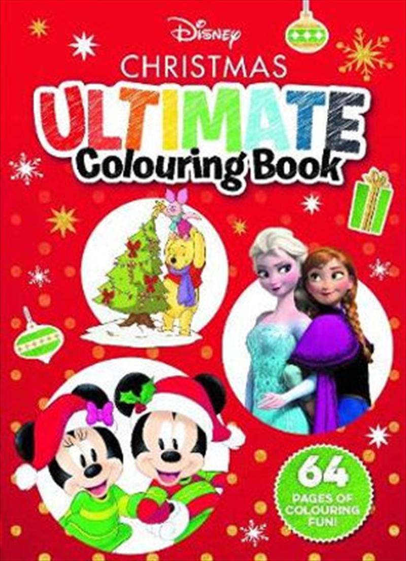 Disney Christmas Ultimate Colouring Book | Paperback Book