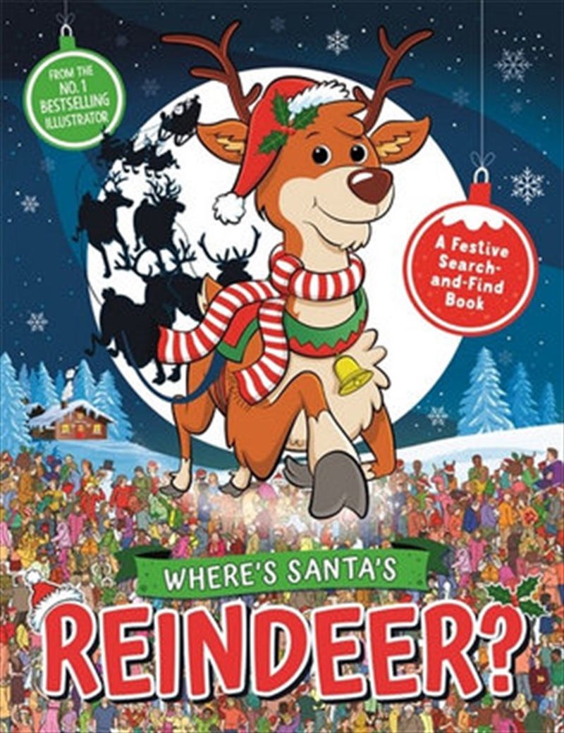 Where's Santa's Reindeer? A Festive Search-and-Find Book | Paperback Book