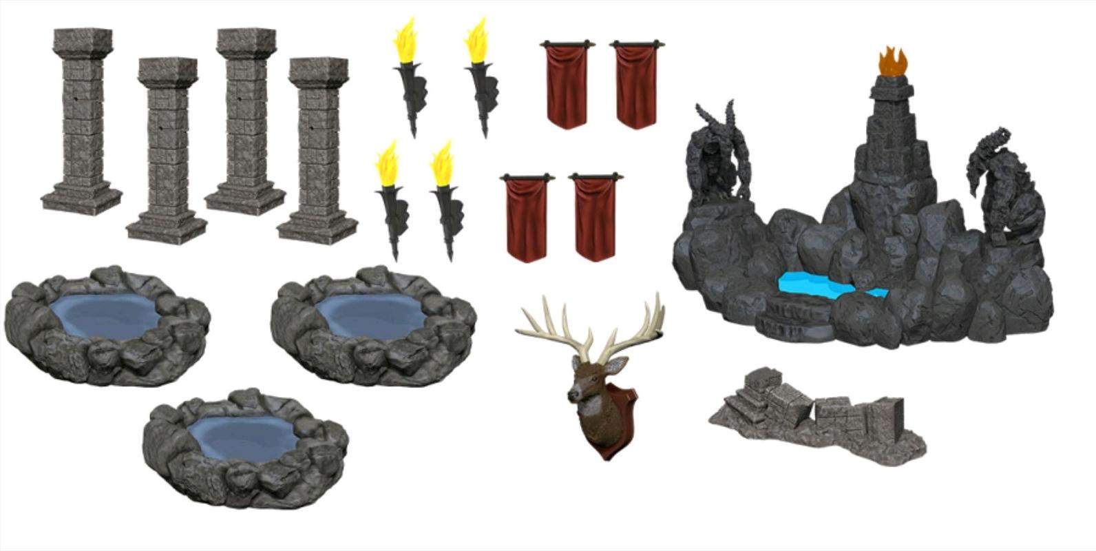 WizKids - Deep Cuts Miniatures: Pools & Pillars | Games