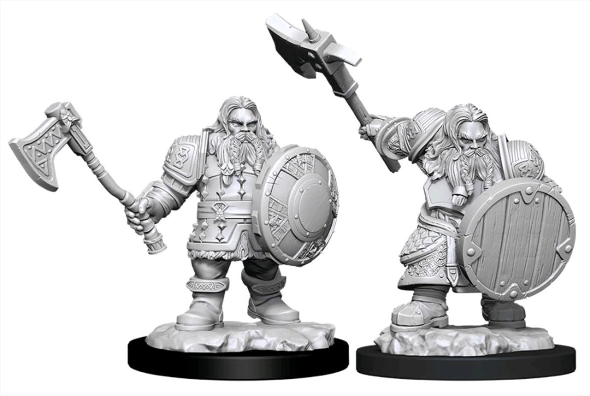 Dungeons & Dragons - Nolzur's Marvelous Unpainted Minis: Male Dwarf Fighter | Games