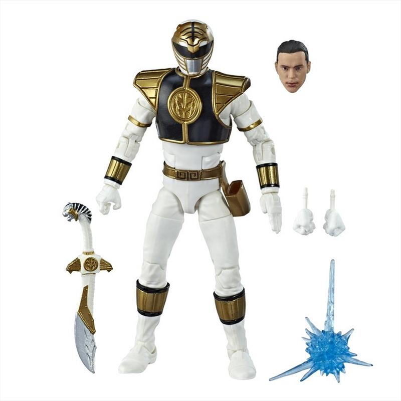 Power Rangers Mighty Morphin Lightning Collection White Ranger Action Figure | Merchandise
