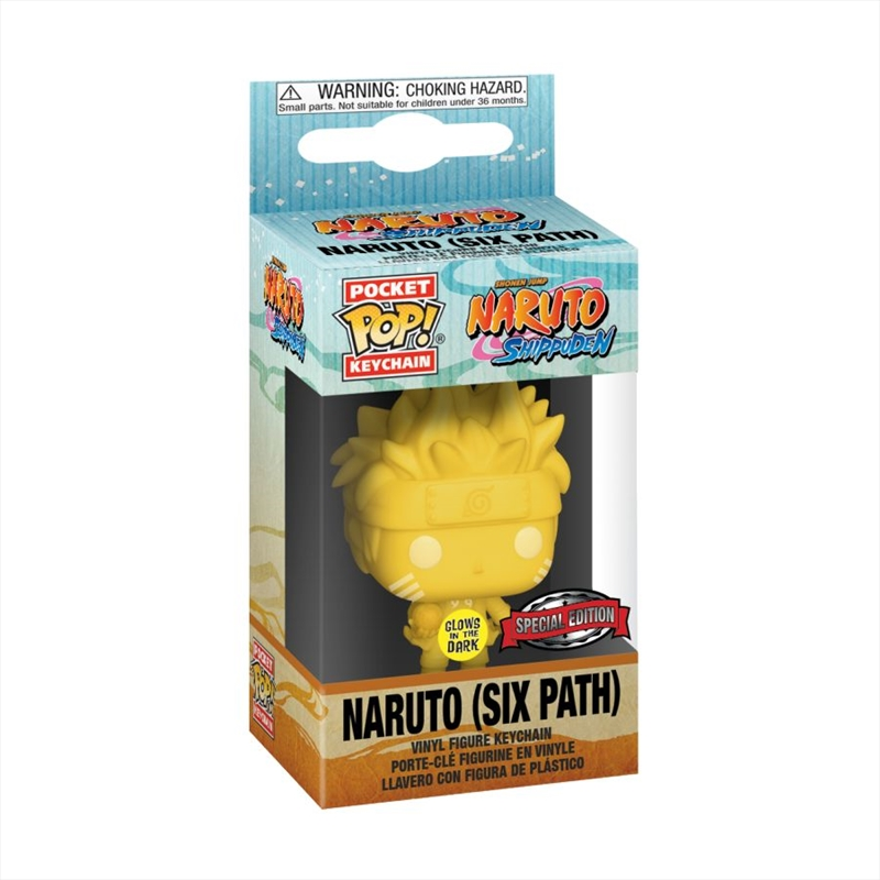 Naruto - Sixpath Glow US Exclusive Pocket Pop! Keychain [RS] | Pop Vinyl