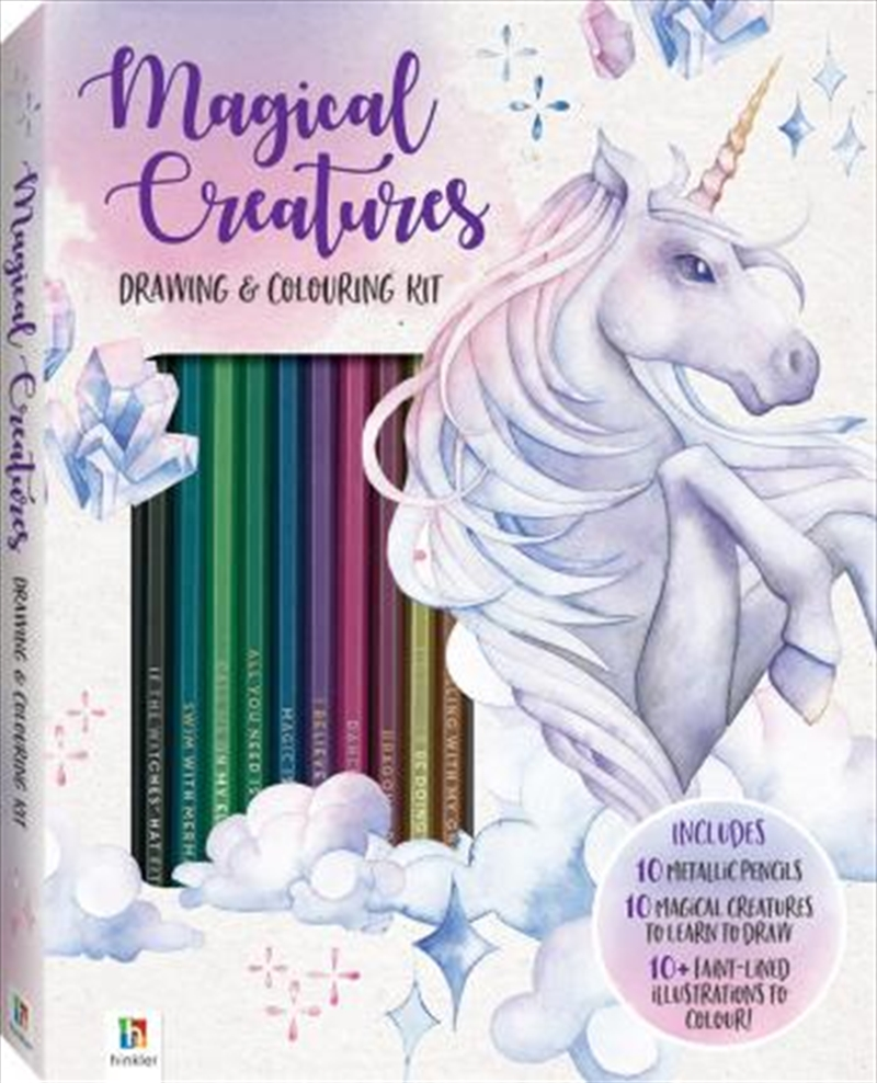 Magical Creatures Colouring & Drawing Kit | Merchandise