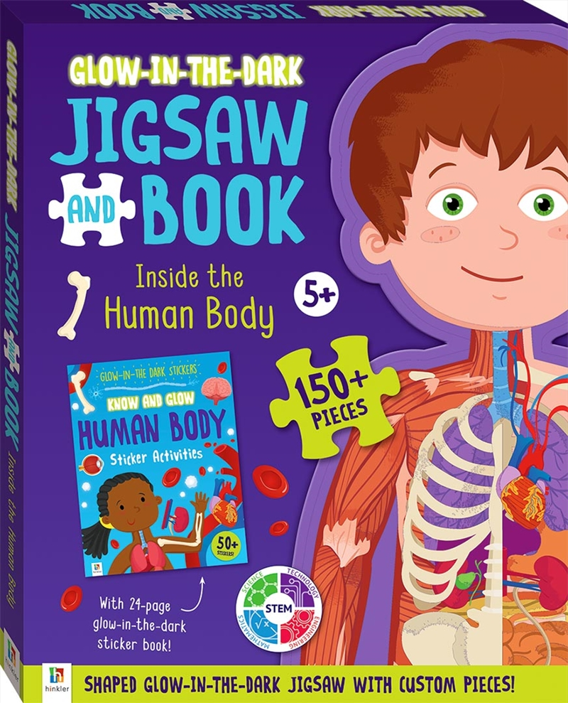 Inside The Human Body: Glow-in-the-dark Jigsaw and Book | Merchandise
