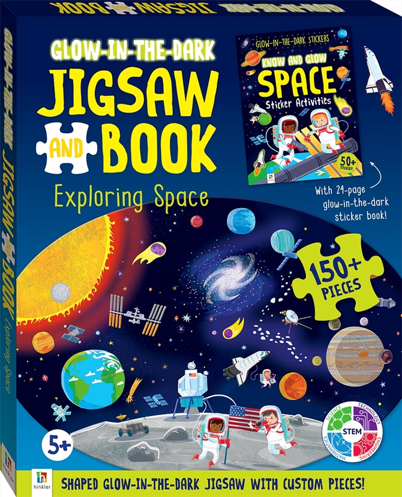 Exploring Space: Glow in the dark Jigsaw and Book | Merchandise