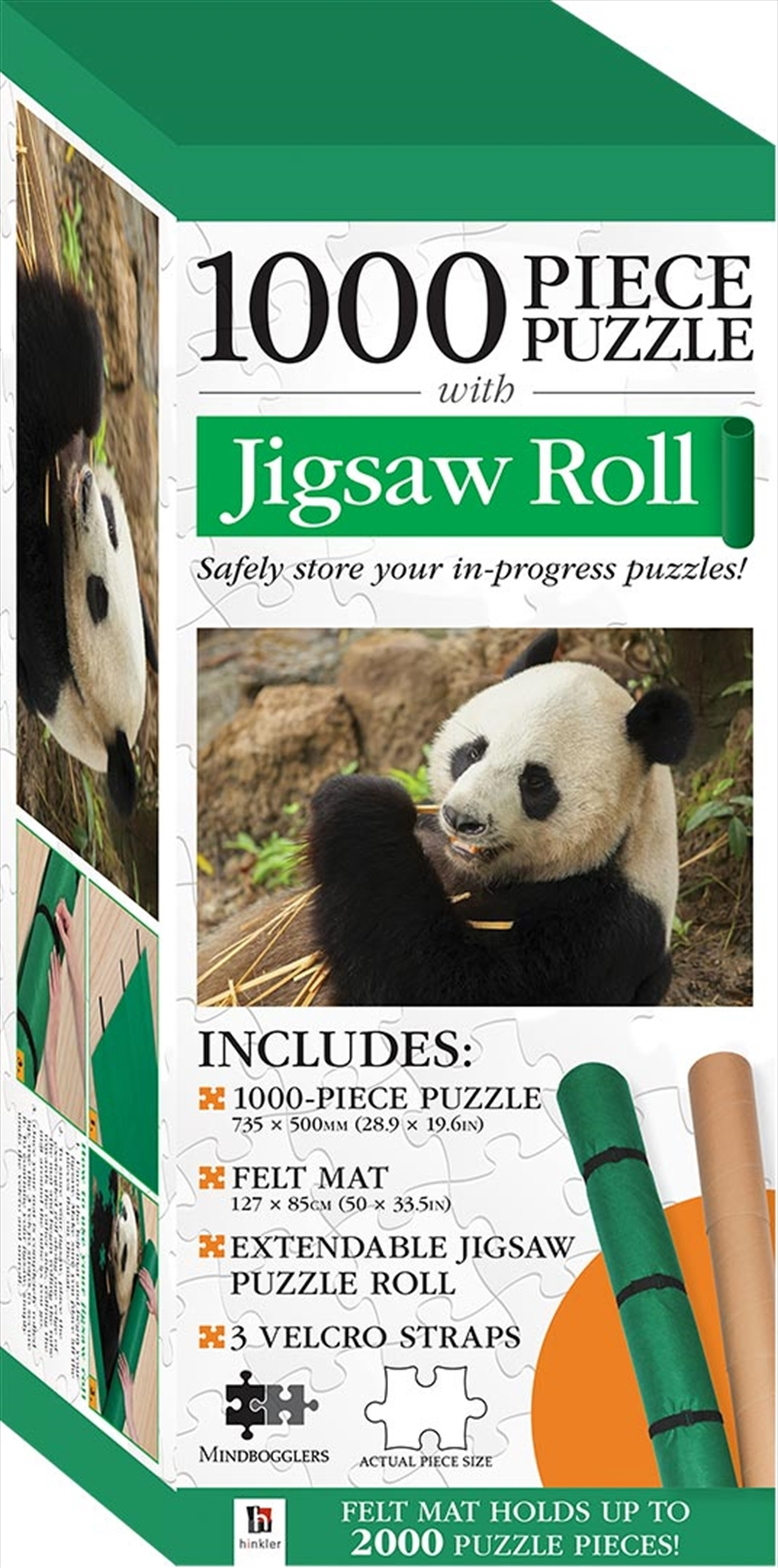 Jigsaw Roll with 1000-Piece Puzzle: Panda | Merchandise