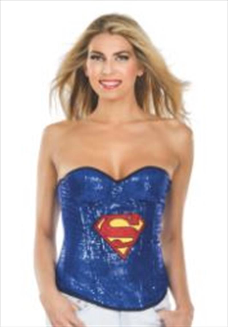 Supergirl Sequin Corset: Medium | Apparel