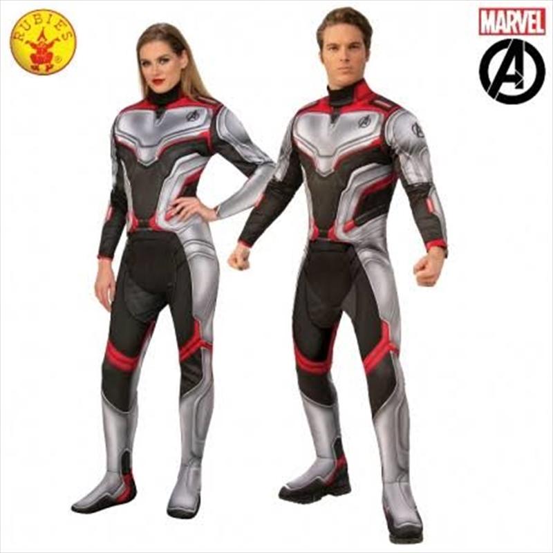 Avengers 4 Deluxe Team Suit Adult Costume - Standard   Apparel