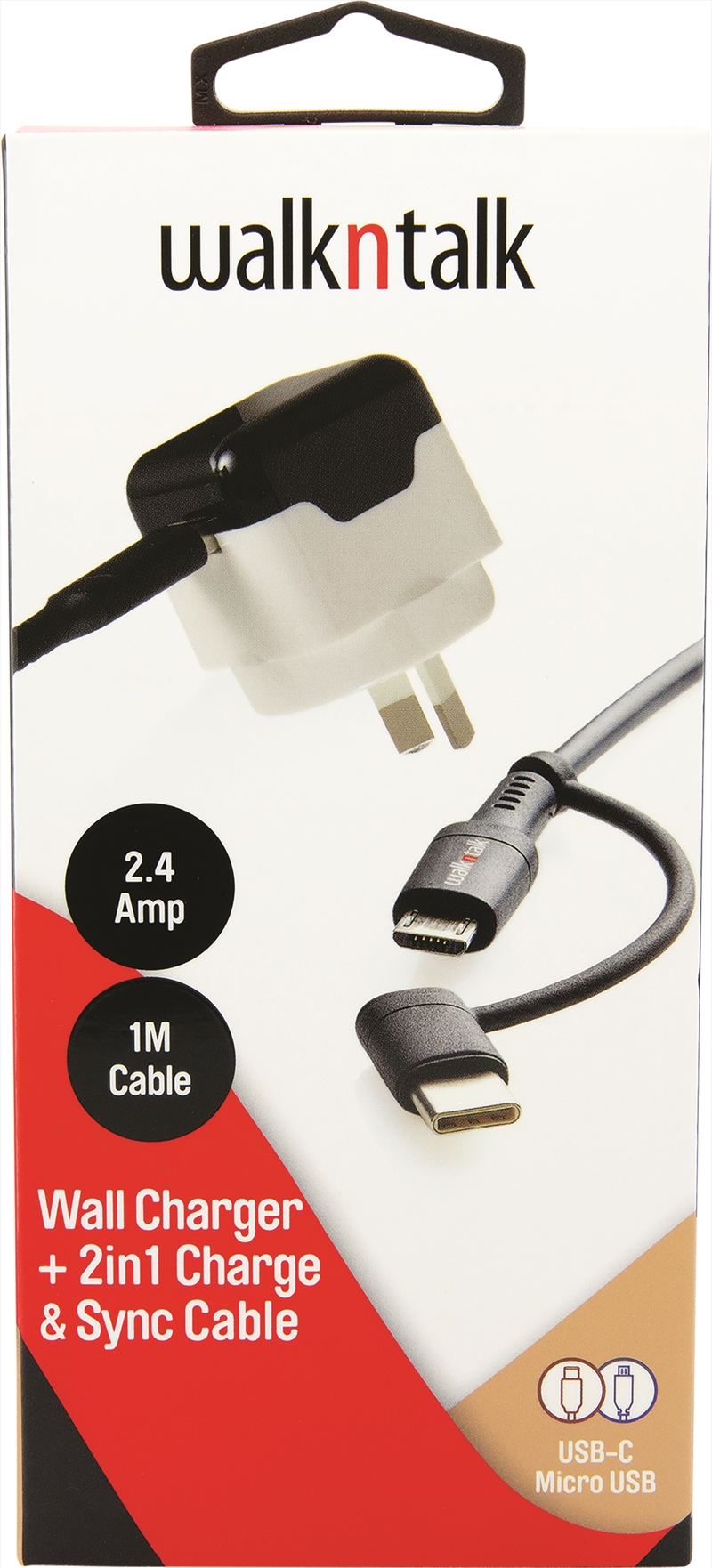 Wall Charger 2in1 Charge and Sync Cable | Accessories