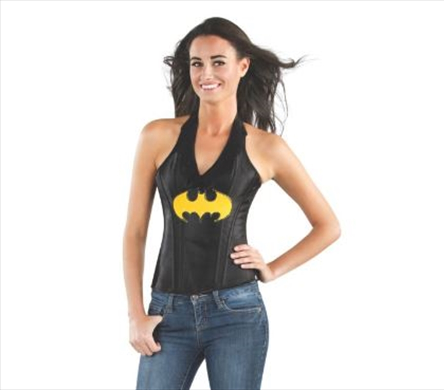 Batgirl Leather Look Corset: Large   Apparel