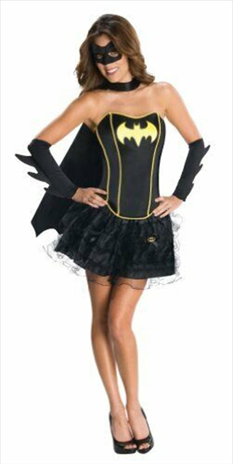Batgirl Sexy Corset Dress Costume Adult - Small | Apparel
