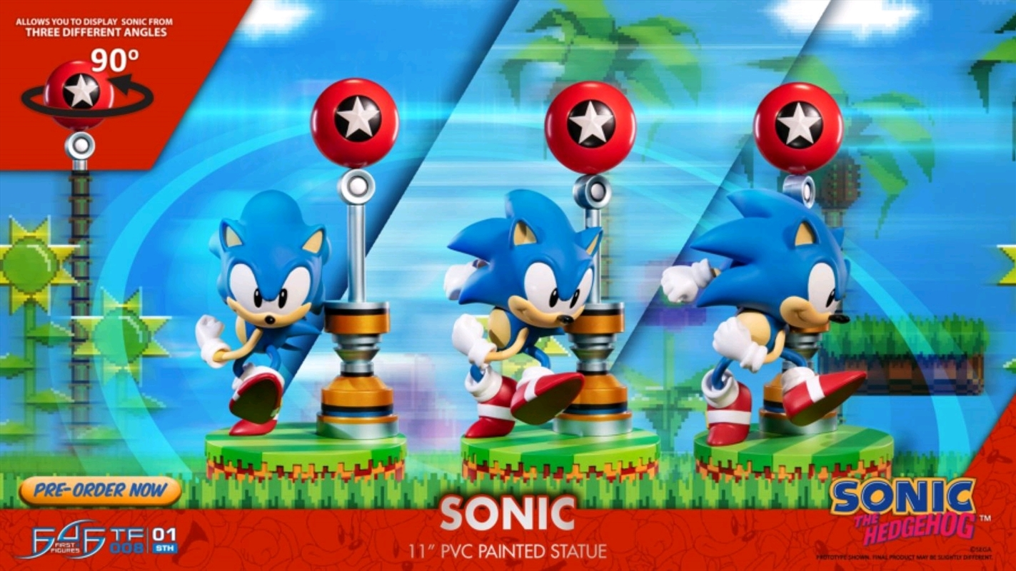 "Sonic the Hedgehog - Sonic 11"" PVC Statue | Merchandise"