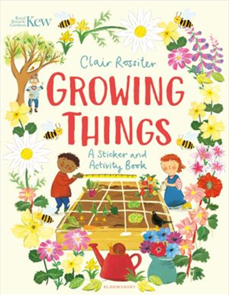 KEW: Growing Things: A Sticker and Activity | Paperback Book