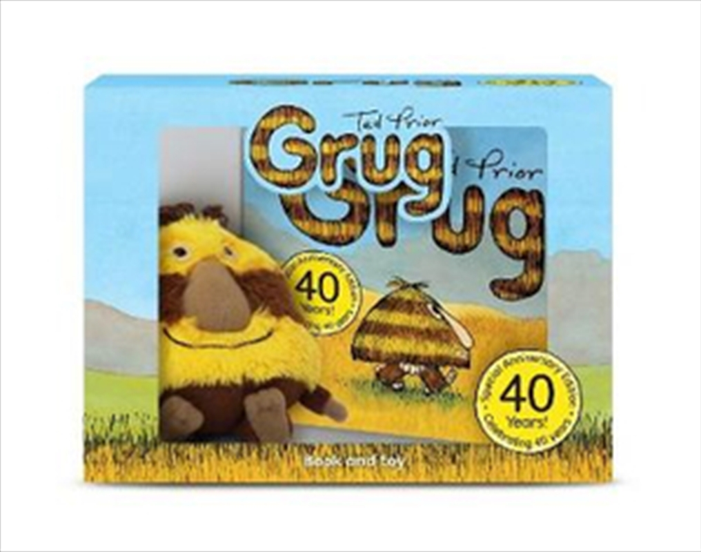 Grug - Book and Plush Toy Gift Set 40th Anniversary Edition | Hardback Book