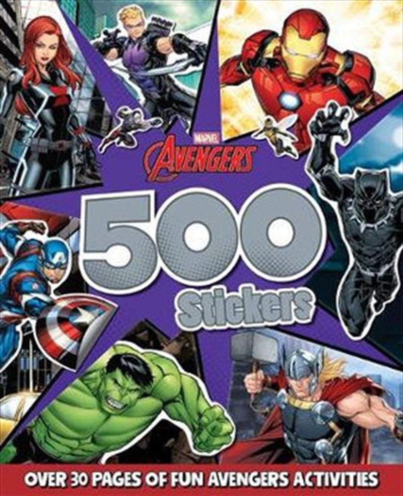 Avengers: 500 Stickers | Paperback Book