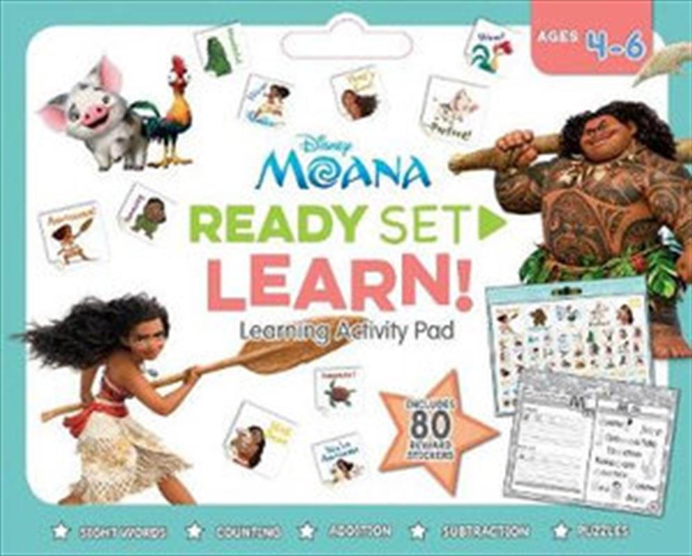 Disney Moana : Ready Set Learn! Activity Pad | Paperback Book