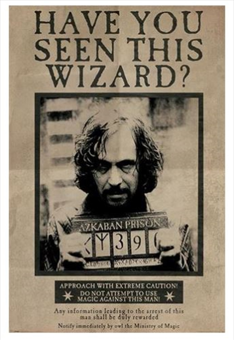 Harry Potter (Wanted Sirius Black) | Merchandise