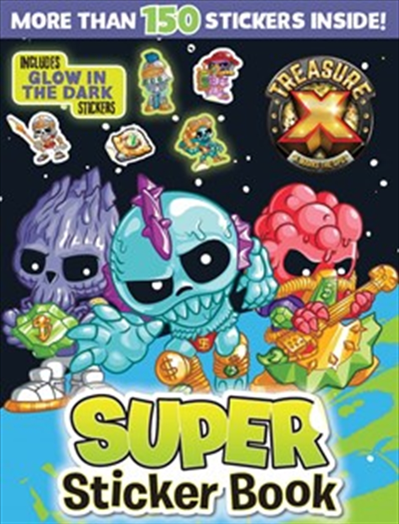Super Sticker Book With Glow In The Dark Stickers | Paperback Book