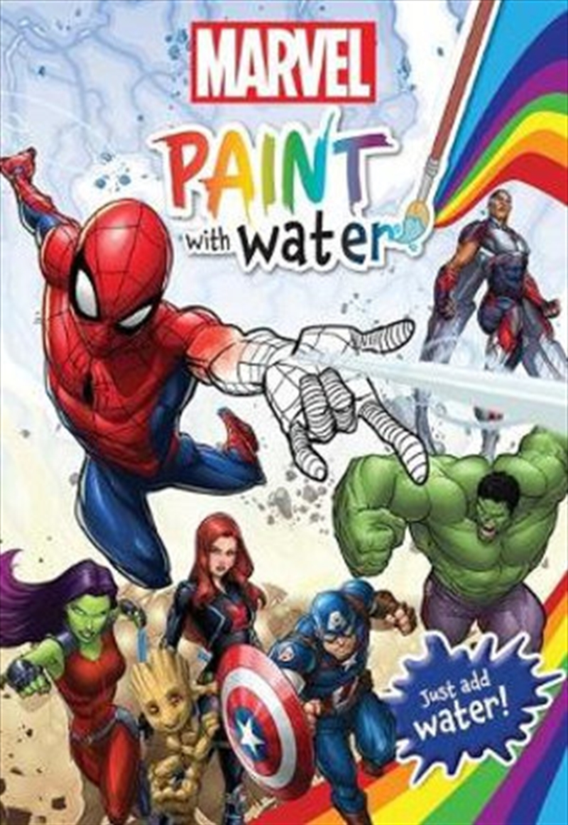 Marvel: Paint With Water | Paperback Book
