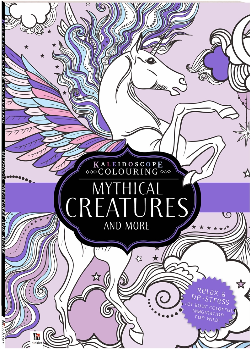 Kaleidoscope Colouring Mythical Creatures and More   Colouring Book