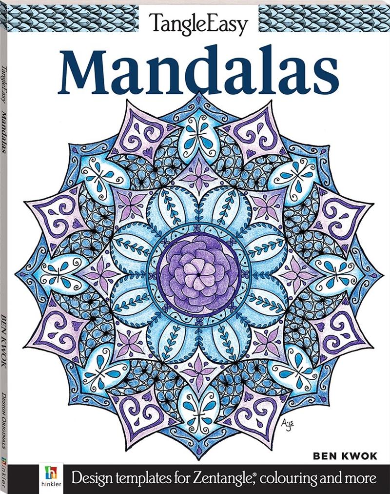 Tangle Easy: Mandalas   Colouring Book