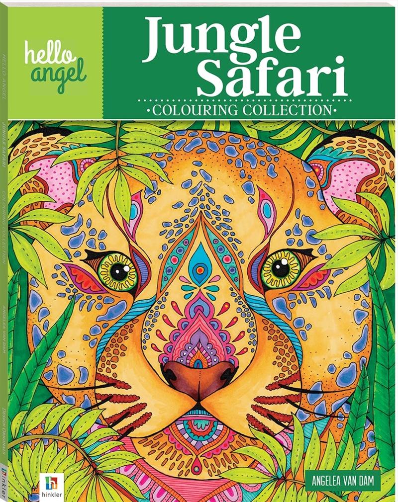 Hello Angel Inspirational Colouring Book: Jungle Safari   Books