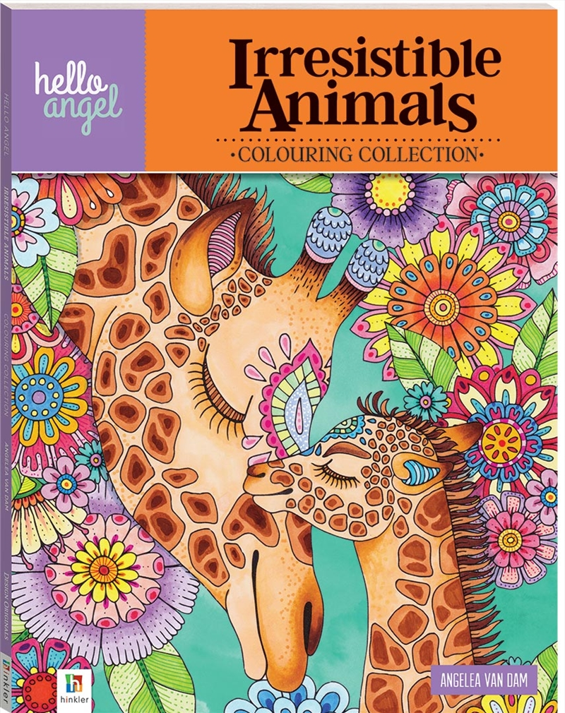Hello Angel Inspirational Colouring Book: Irresistible Animals | Books