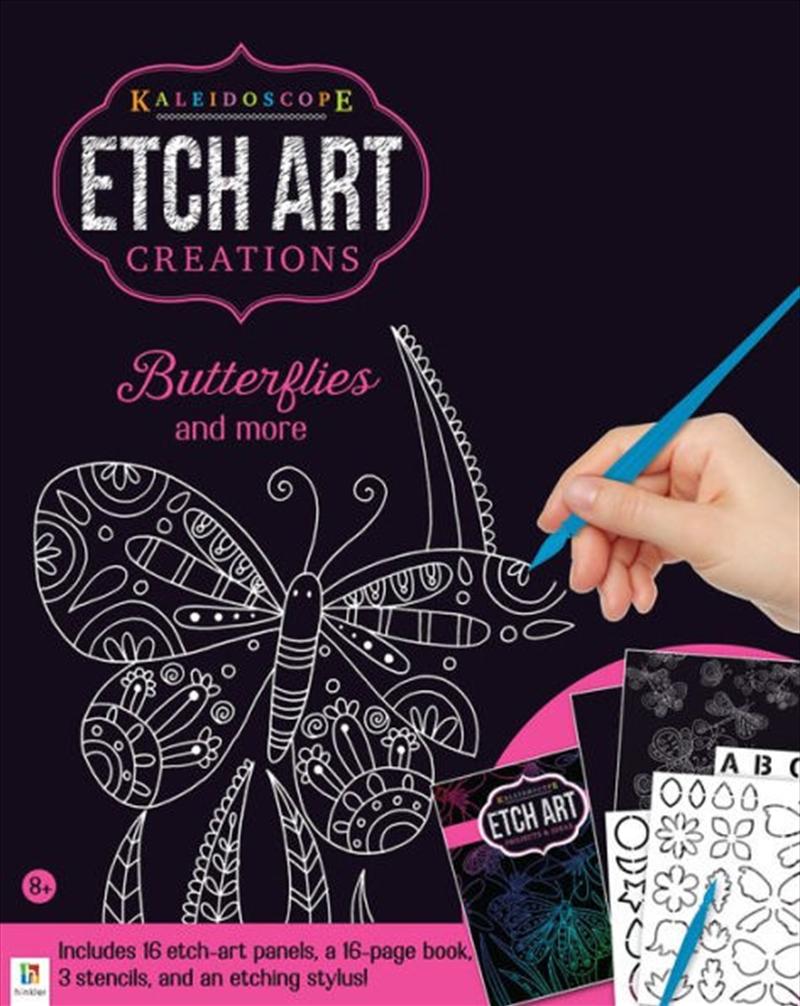 Kaleidoscope Etch Art Creations: Butterflies and More | Hardback Book