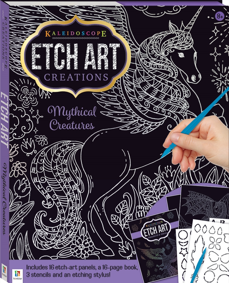 Kaleidoscope Etch Art Creations: Mythical Creatures | Hardback Book