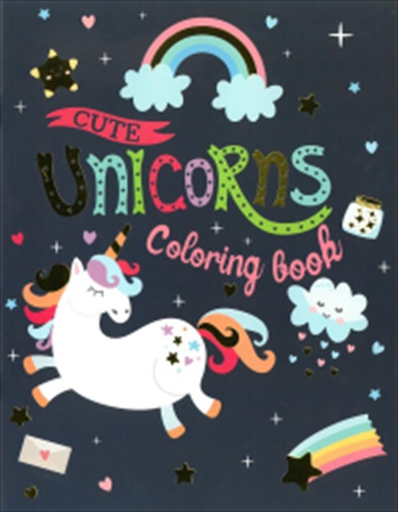 Unicorns Colouring Book Cute Unicorns | Paperback Book