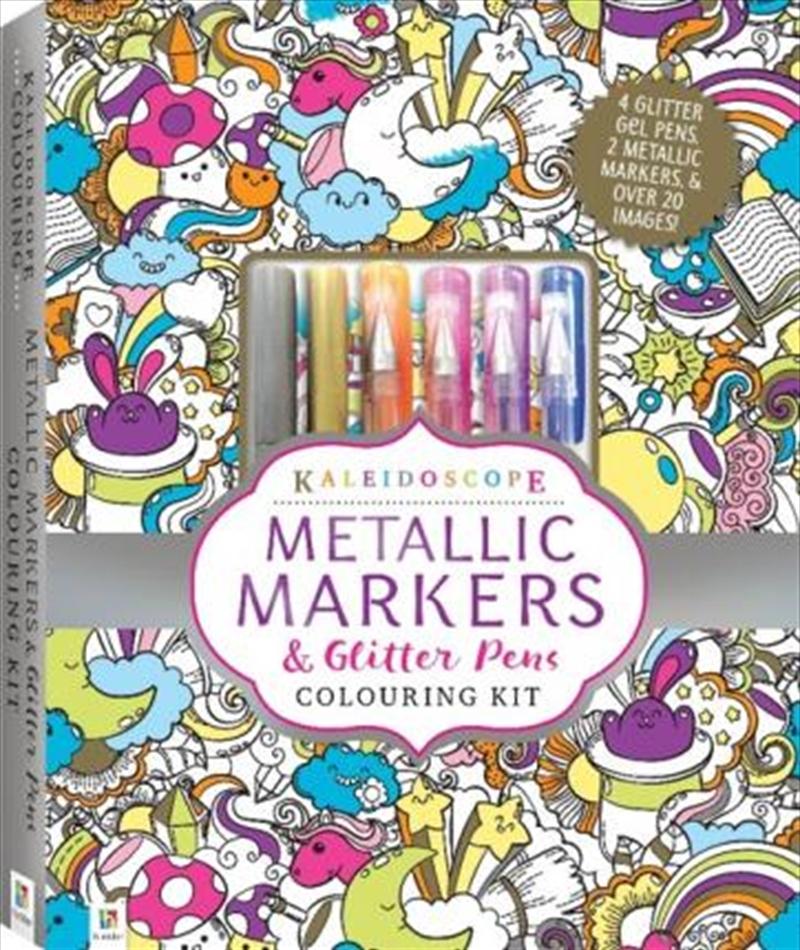 Kaleidoscope Colouring Metallic Pen Kit | Hardback Book