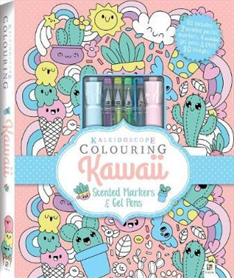 Kaleidoscope Colouring: Kawaii | Hardback Book