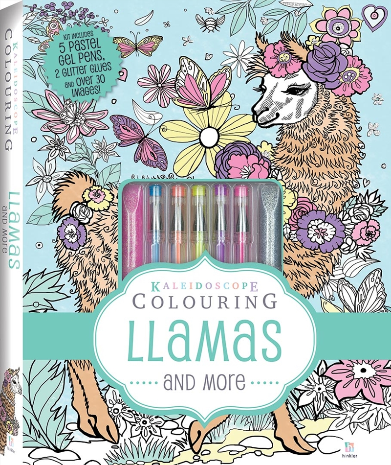 Kaleidoscope Pastel Colouring Kit: Llamas and More | Colouring Book