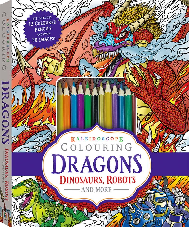 Kaleidoscope Colouring: Dragons, Dinosaurs, Robots and More   Colouring Book