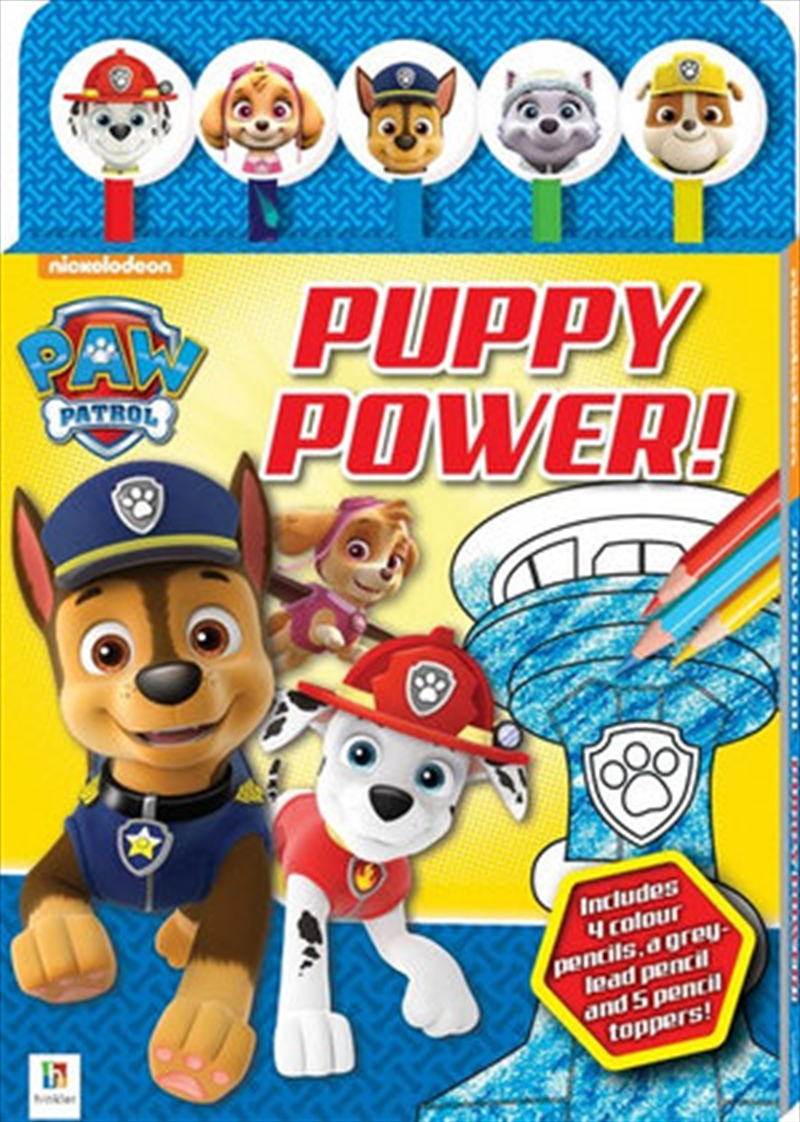 Paw Patrol Puppy Power 5-Pencil Set | Colouring Book