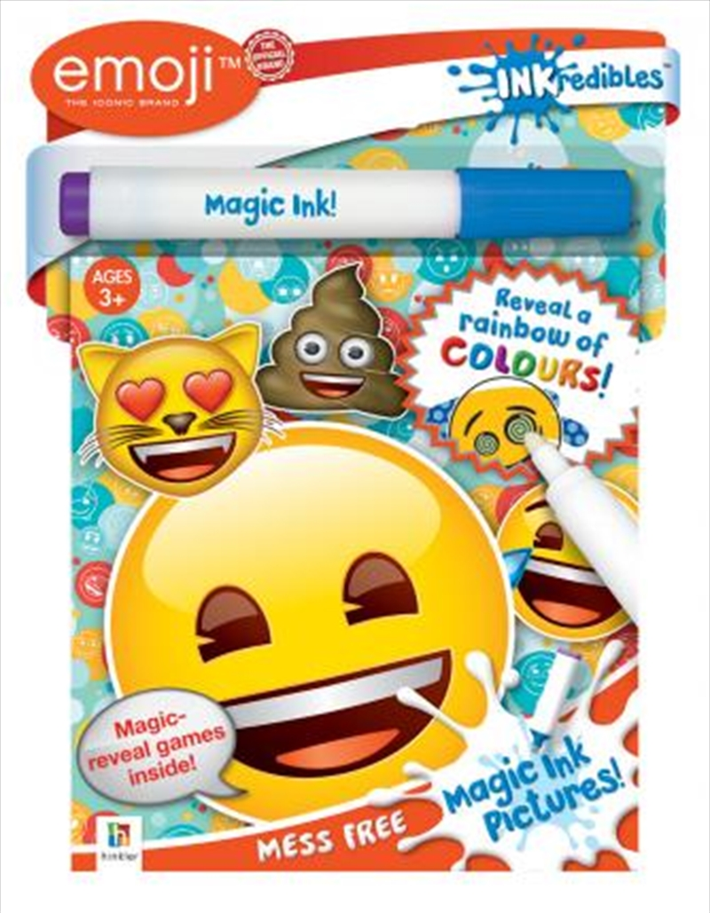 Inkredibles Emoji Magic Ink Pictures | Colouring Book