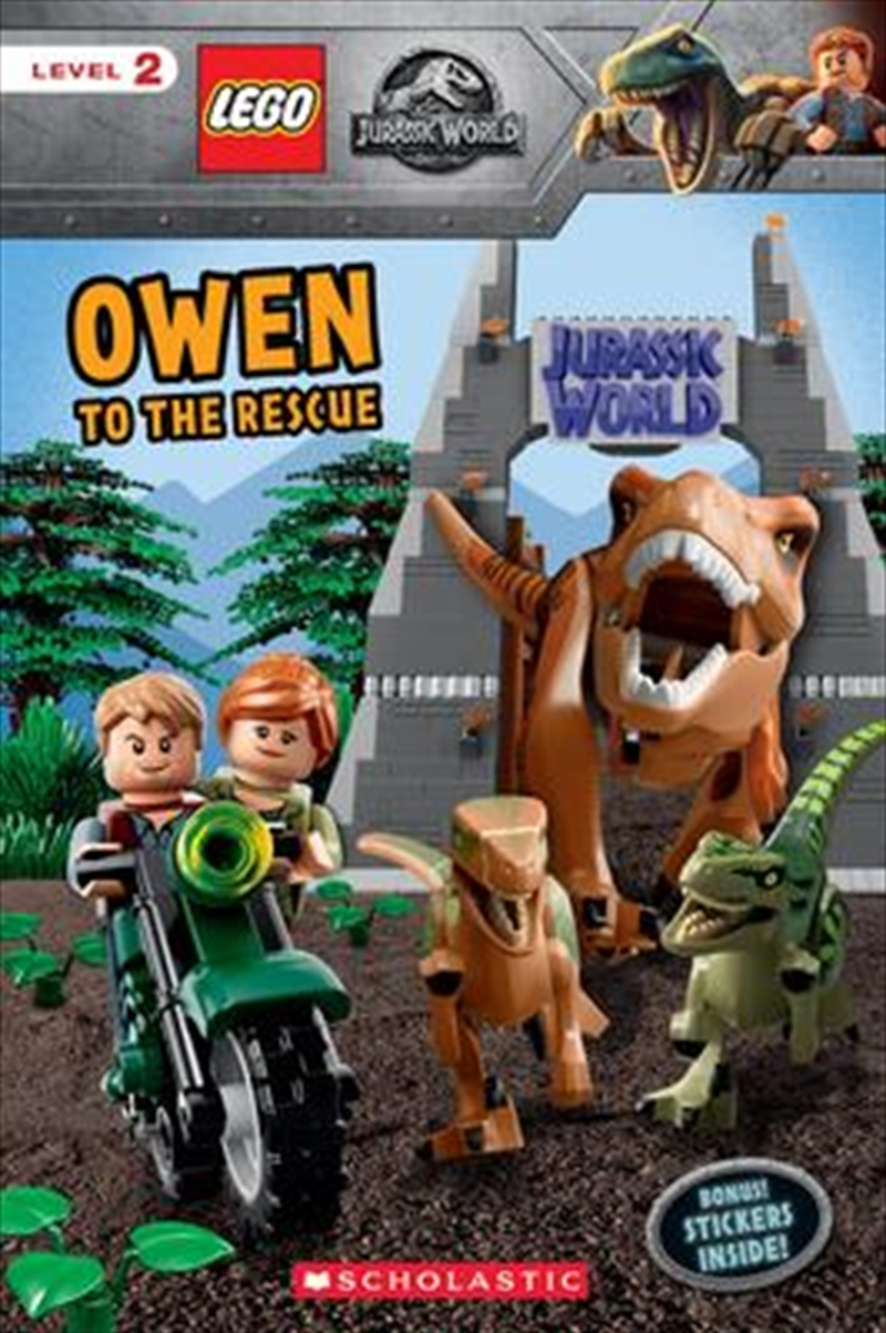 Owen to the Rescue (Lego Jurassic World: Reader with Stickers   Paperback Book