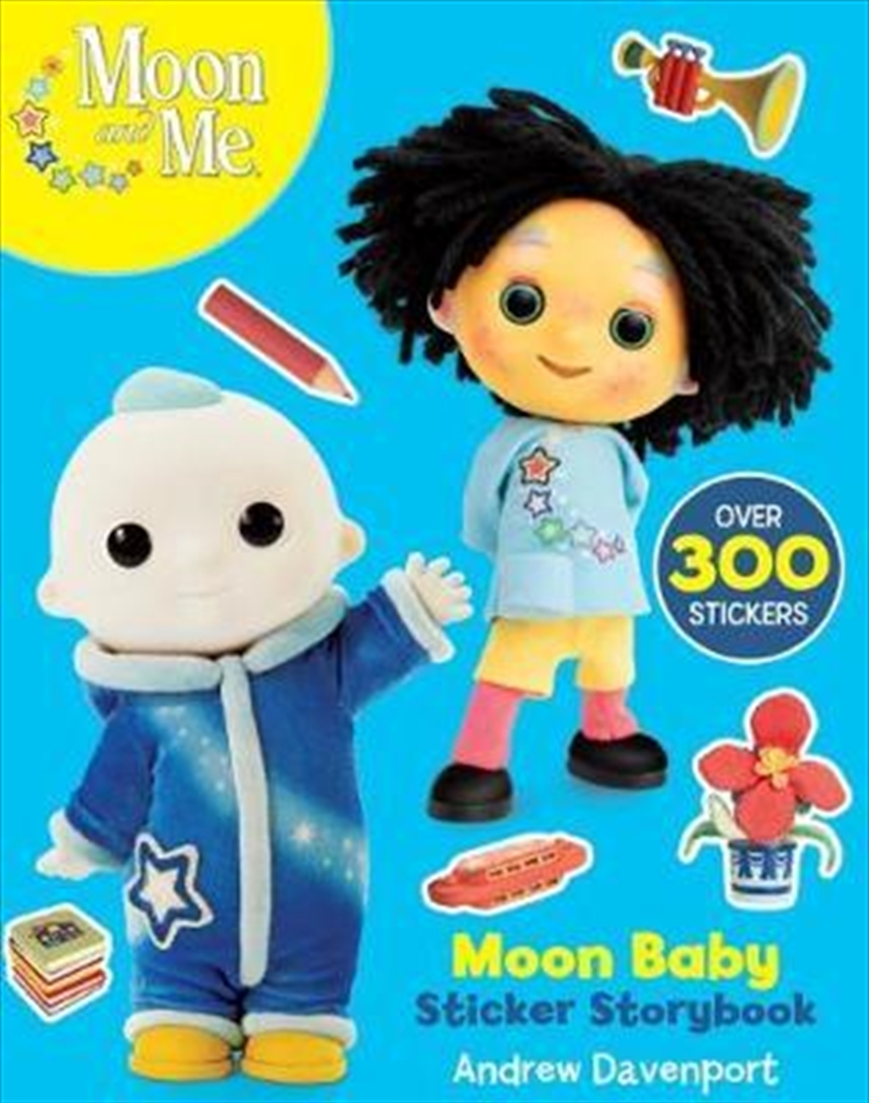 Moon Baby Sticker Storybook | Paperback Book