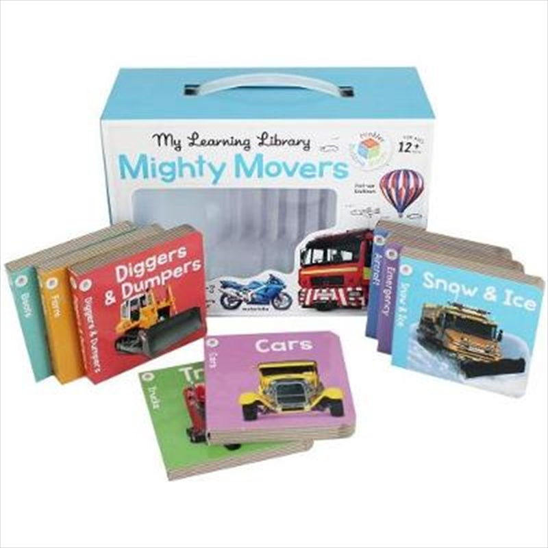 Building Blocks Learning Library Mighty Movers | Books