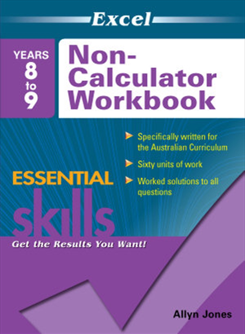 Excel Essential Skills: Non-Calculator Workbook Years 8-9 | Paperback Book