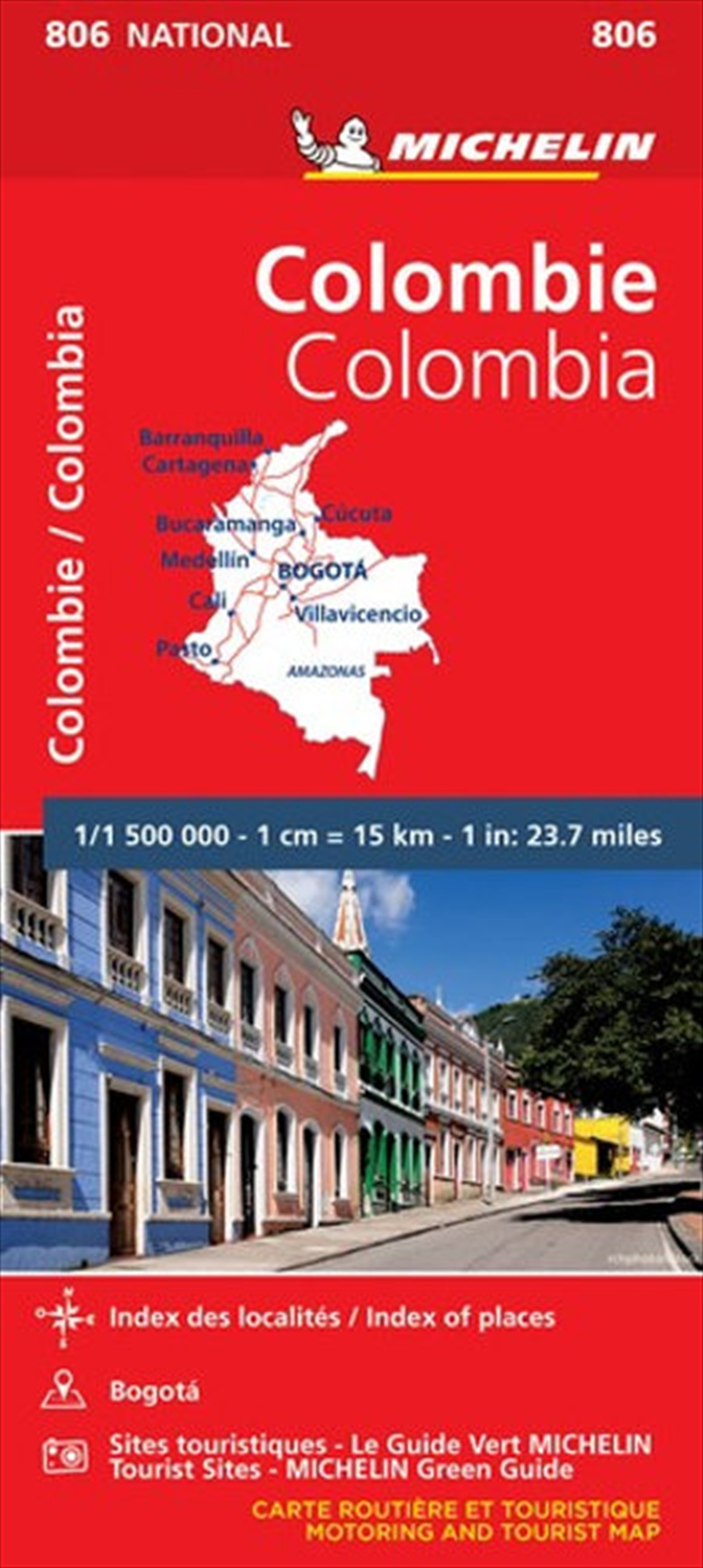 Colombia Michelin National Road Map 806 | Sheet Map