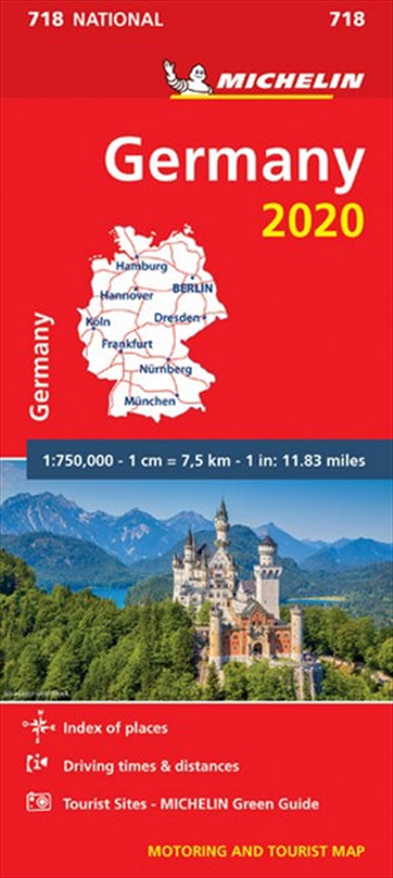 Germany 2020 Michelin National Road Map 718 | Sheet Map