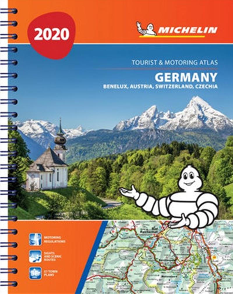 Germany, Benelux, Austria, Switzerland, Czech Republic Atlas 2020 Michelin Tourist & Motoring Atlas | Paperback Book