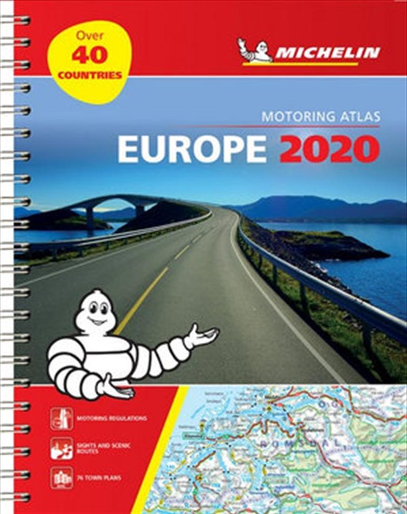 Europe Atlas 2020 Tourist & Motoring Atlas (A4-Spiral) | Paperback Book