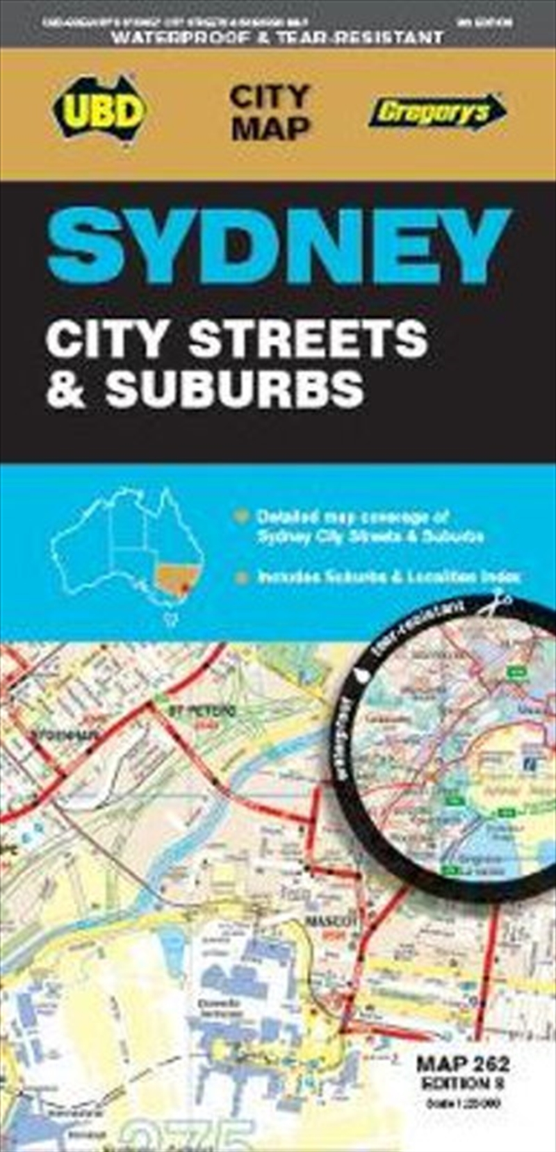Sydney City Streets And Suburb   Sheet Map