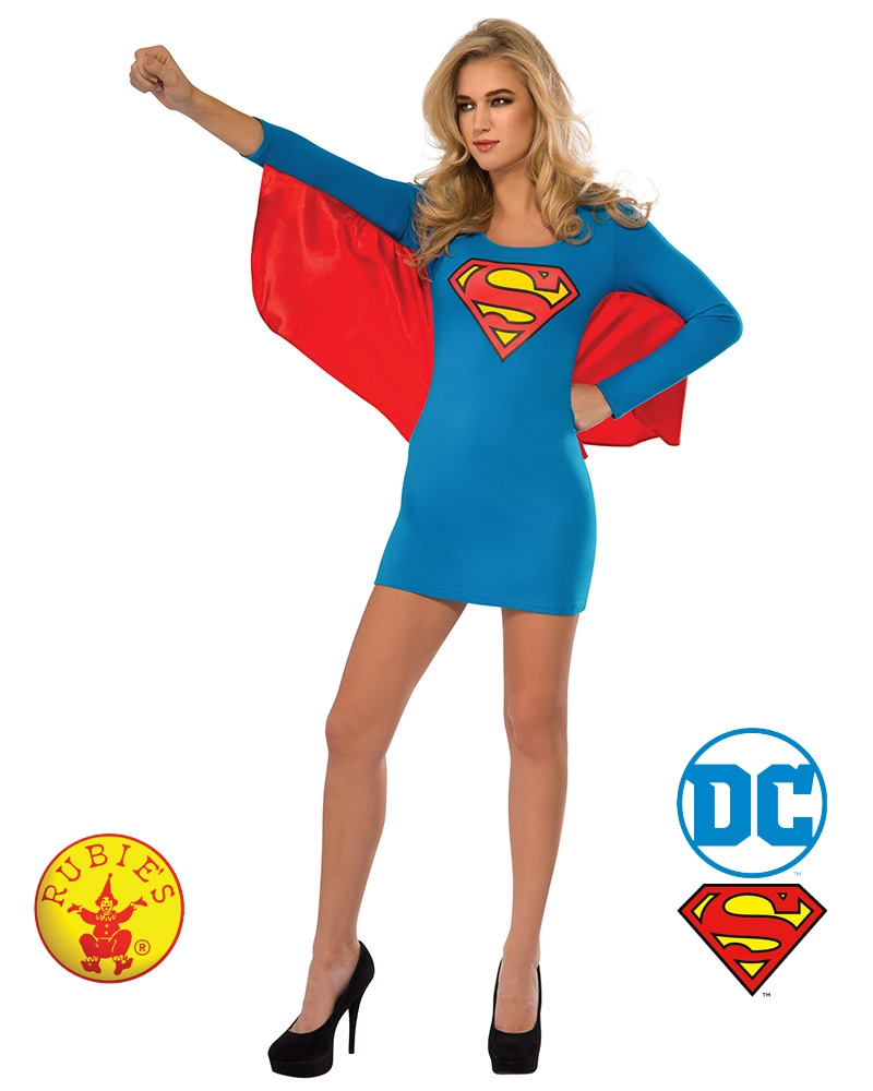 Supergirl Dress With Wings: Large | Apparel