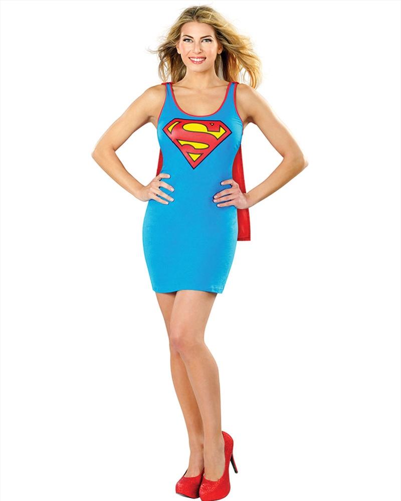 Supergirl Tank Dress: Size Medium | Apparel
